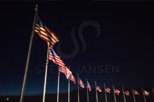 Arc of Amercan Flags - Steve Jansen Photography