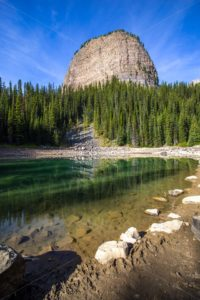 Mirror Lake and Big Beehive (Portrait) - Steve Jansen Photography